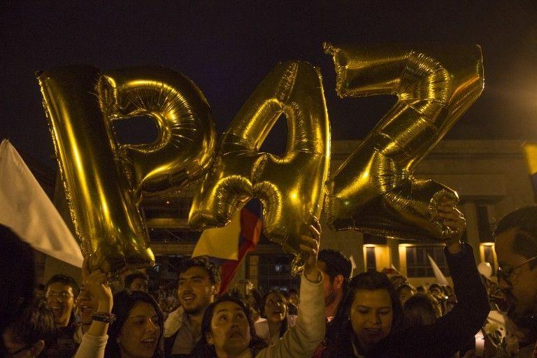 Manifestations place de Bolivar à Bogota, contre le rejet par référendum de la paix avec les FARC. 5 octobre 2016