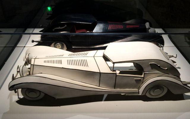 Les maquettes de la voiture de Cruella dans Les 101 dalmatiens