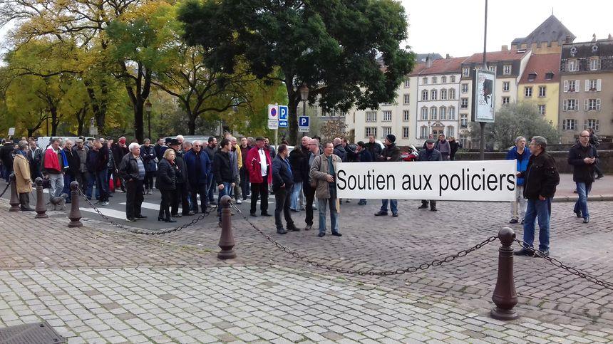 Les manifestants ont défilé pendant une bonne heure dans le centre-ville de Metz.