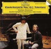 cd visuel Franz Liszt  2 concertos pour piano et Totentanz ozawa