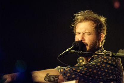 Bon Iver, groupe du chanteur et musicien américain Justin Vernon; le 8/11/2012 à Wembley Arena, Londres.