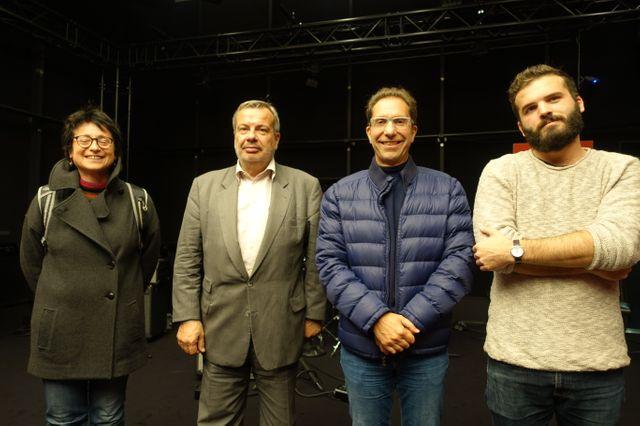 Aline Richard, Perico Legasse, Christian Recchia, Théo Ribeton