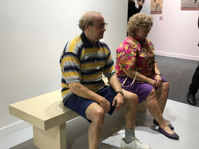 Duane Hanson, Old Couple on a bench, Gagosian Gallery