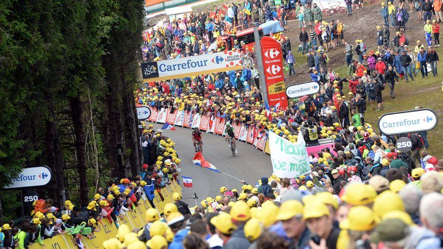L'étape de la Planche des Belles Filles, le 14 juillet 2014, lors du Tour de France.