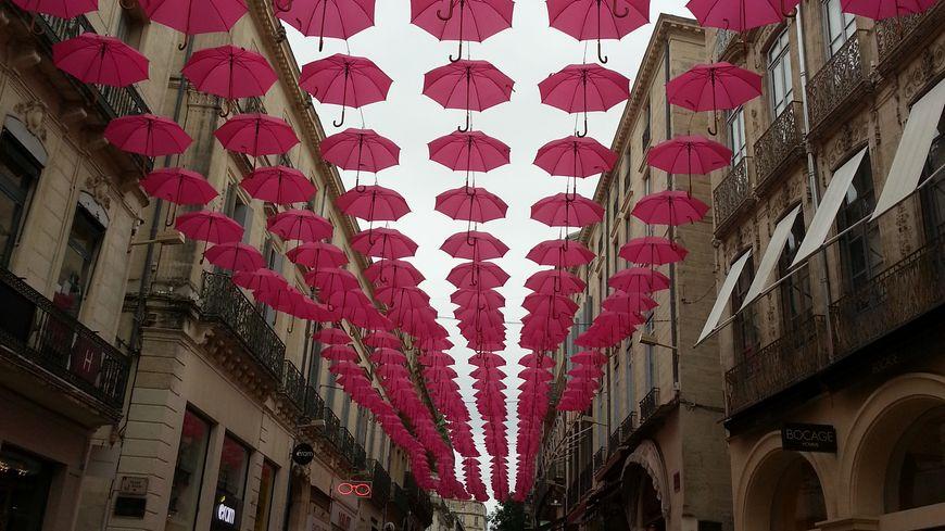 La rue de la Loge en rose ce mois-ci