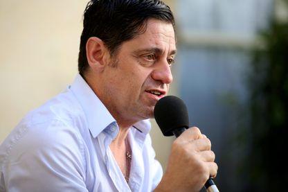 Olivier Py lors de la clôture du festival d'Avignon 2015