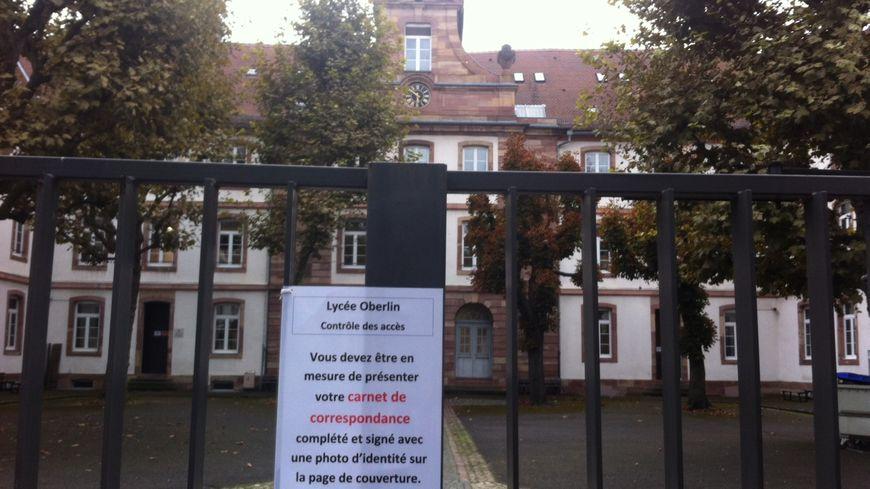 Le lycée Oberlin à Strasbourg où a eu lieu l'agression