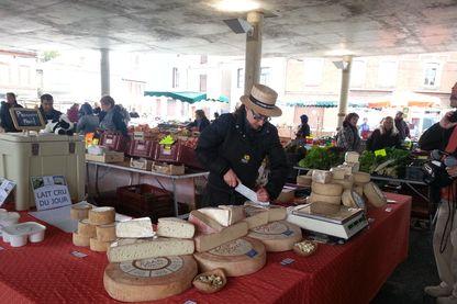 Sur un marché aux producteurs de Montauban