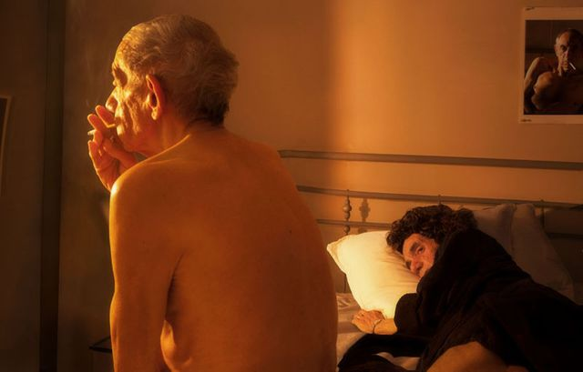 Hommage à Nan Goldin, Nan and Brian in bed. NYC, 1983, 2014