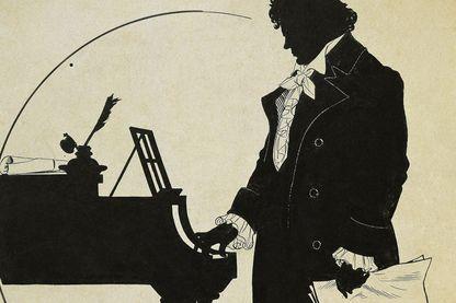 Silhouette de Beethoven par Schlipmann
