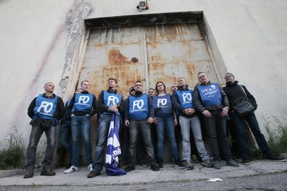 Manifestation des gardiens de la prison de Nice en avril 2016