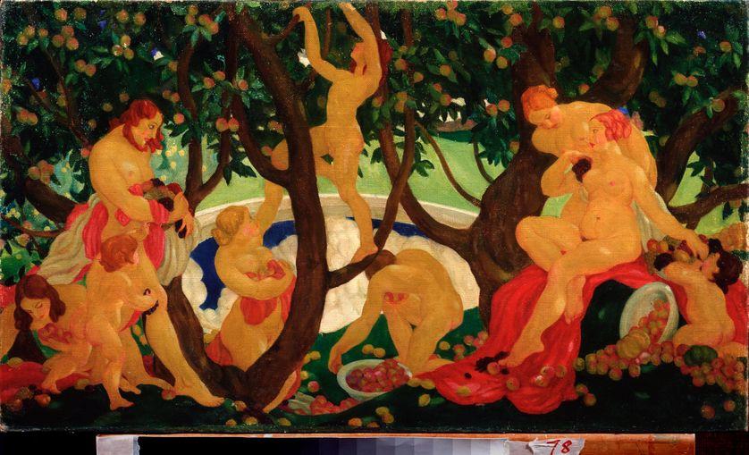 Partage des pommes - Huile sur toile, 1917