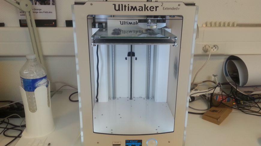 Cette imprimante 3D coûte 3 000 euros. Elle fabrique des objets à base de fils plastiques.