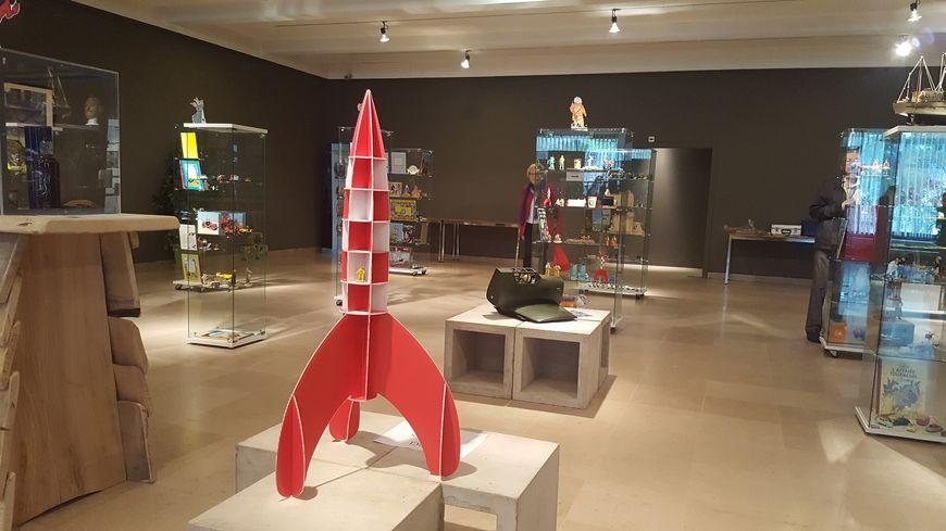 """exposition """"La géographie à travers Tintin"""" au musée Pierre Noël à Saint-Dié-des-Vosges"""