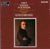 visuel cd Franz Liszt  Sonate en si min  2 legendes  La lugubre gondole  Alfred Brendel