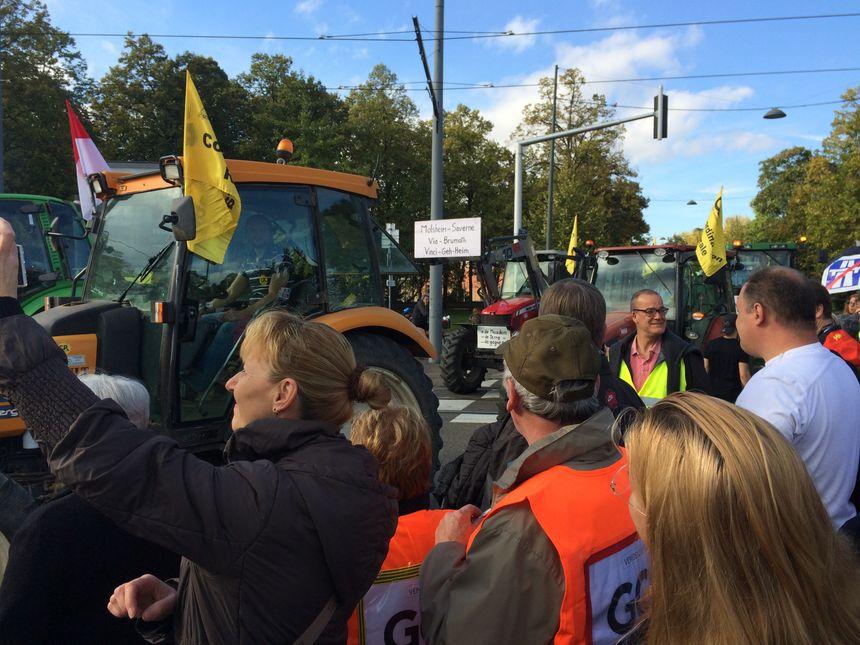 La manifestation des opposants au GCO à Strasbourg.