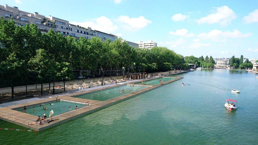 La zone de baignade du bassin de la Villette s'installera chaque été le long du quai de Loire