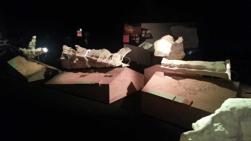 Des maquettes de la grotte de Lascaux visibles dans l'exposition Lascaux III.