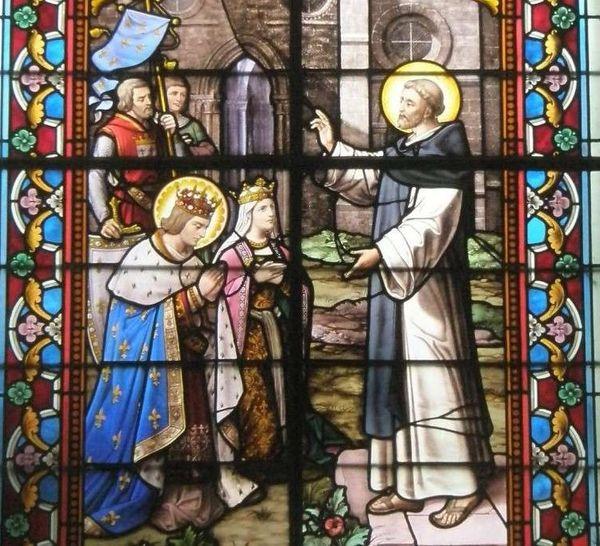Saint-Thibaud de Marly reçoit Saint-Louis et Marguerite-de Provence. Eglise Saint-Eloi, Le Perray-en-Yvelines-78