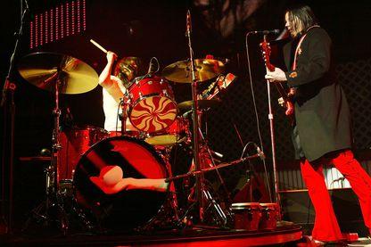 The White Stripes, Meg White et guitariste Jack White, le 11 Décembre 2005 à Los Angeles.