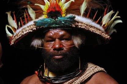 Mundiya Kepanga, chef papou originaire de la région de Tari dans la région des Hautes Terres de Papouasie-Nouvelle-Guinée