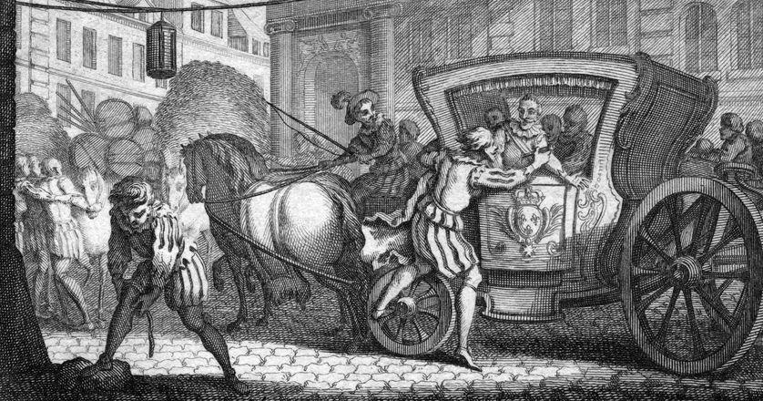 Henri IV est assassiné par Ravaillac, le 14 mai 1610