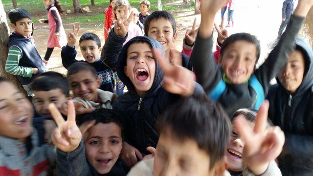 Dans un camp de réfugiés en Turquie près de la frontière syrienne à 40 km d'Alep.
