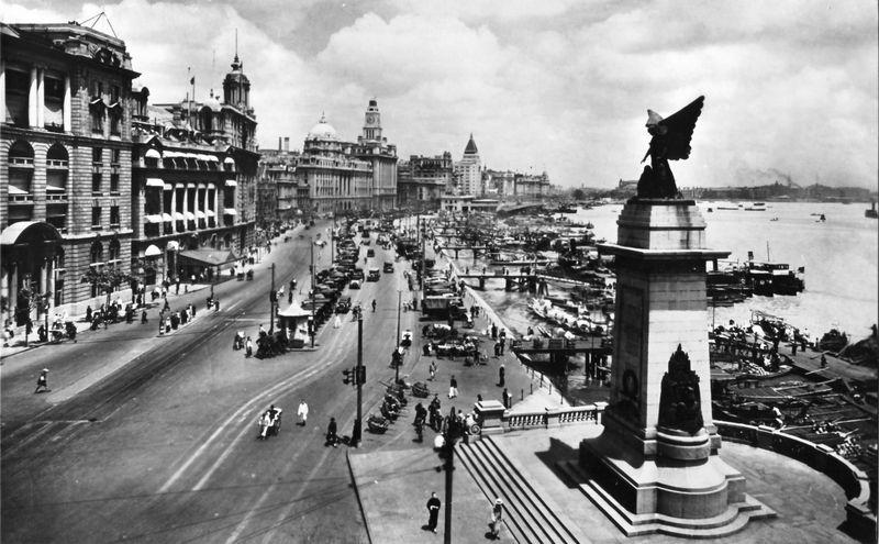 Le Bund en 1928, Shanghai