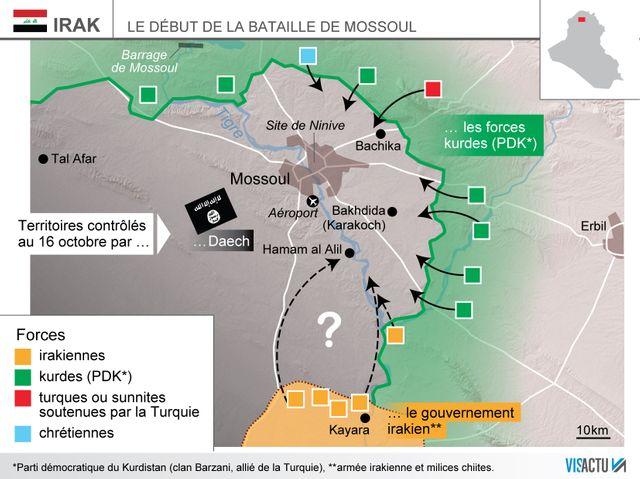 La bataille de Mossoul a débuté