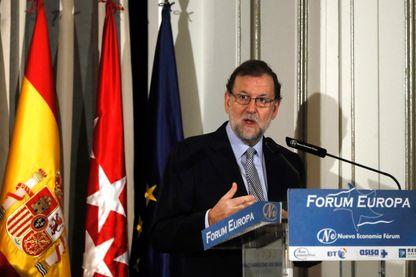 Le Premier ministre espagnol, Mariano Rajoy, au Forum Europa à Madrid, Espagne, le 24 Octobre 2016