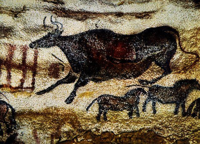 La vache noire dans la grotte de Lascaux