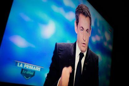 Nicolas Sarkozy pendant le débat de la primaire de la droite, le 13 octobre 2016.