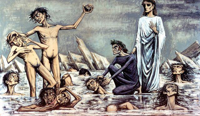 L'enfer de Dante pris dans les glaces Bernard Buffet