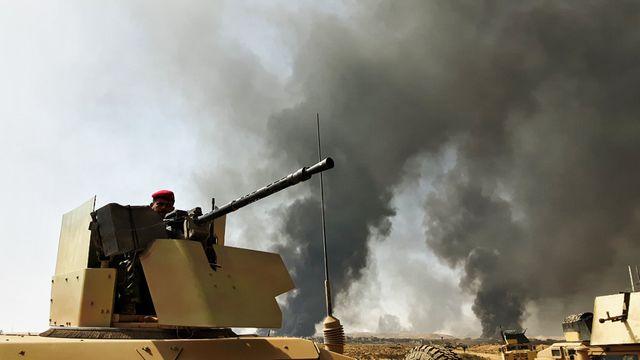 Tourelle de blindé irakien