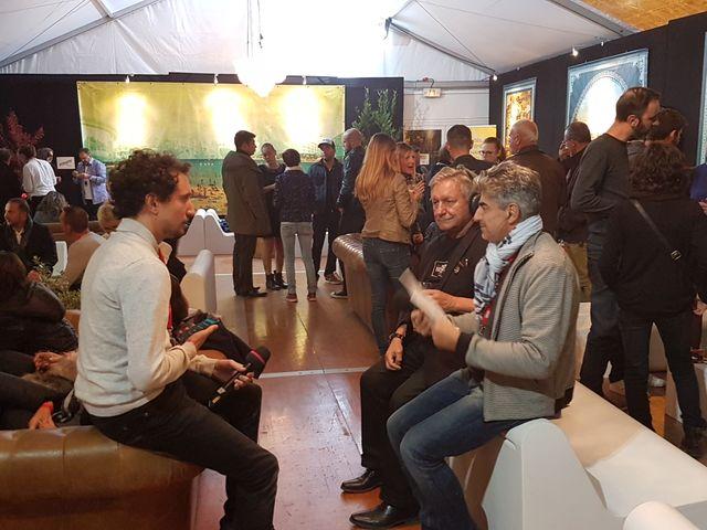 Interview avec aux côtés de Didier Varrdo, Bernard Aubert et devant; Martin notre technicien