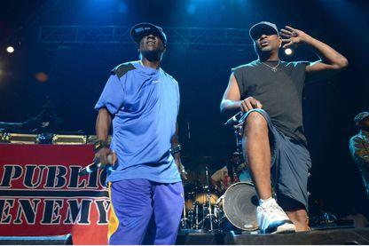 Public Enemy, Flavor Flav et Chuck D, sur scène à Las Vegas le 25 mai 2013