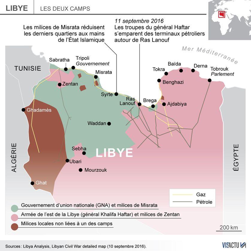 Infographie de la situation à Syrte le 14 septembre 2016