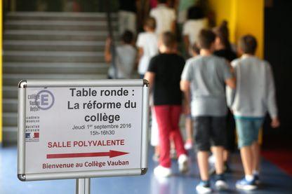 La contestée réforme du collège est entrée en vigueur à la rentrée de septembre