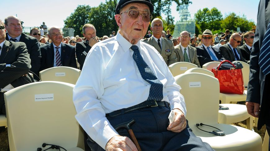 Marcel Darthout, lors de la visite à Oradour du Président Allemand en 2013