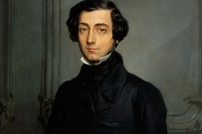 Détail d'un portrait d'Alexis Tocqueville