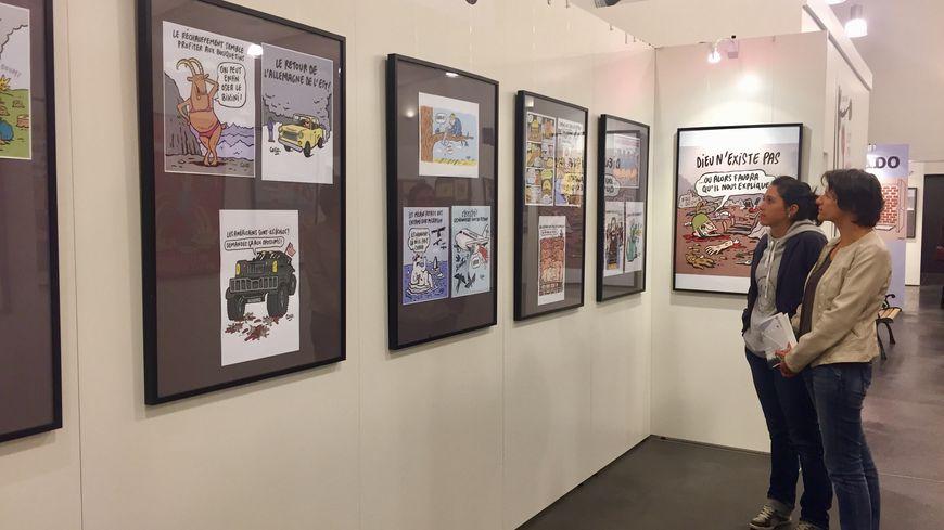 Cette année, les dessins de la dessinatrice de Charlie Hebdo Coco étaient à l'honneur