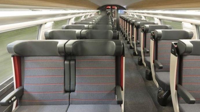 Voilà à quoi ressemblera un wagon de 1ère classe dans le TGV Océane.