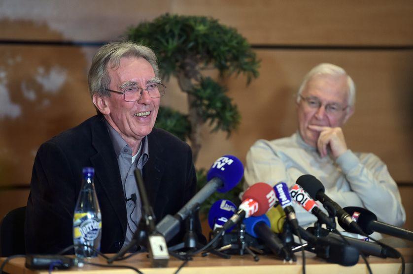 Jean-Pierre Sauvage, lors d'une conférence de presse à l'université de Strasbourg, mercredi 5 octobre.