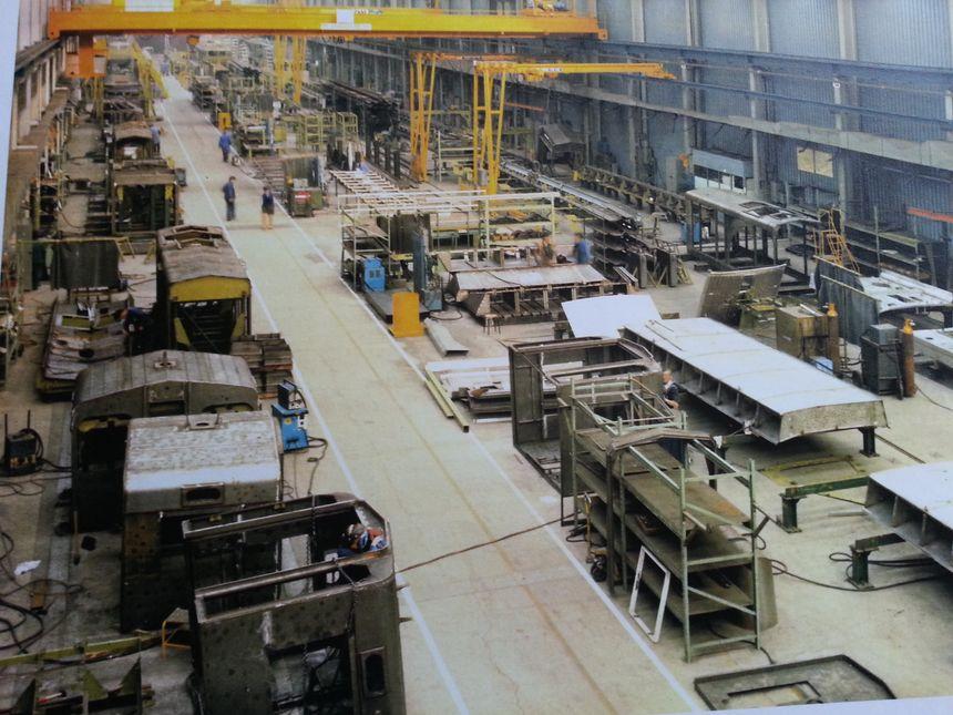 La chaîne de fabrication du TGV 001