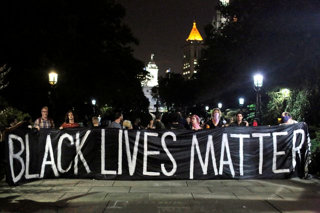 #USA 2016 : manifestation du mouvement Black lives matter à New York en août