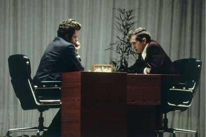 Bobby Fischer et Boris Spassky  à Reykjavik, en Islande, le 31 août 1972