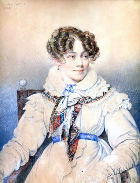 Portrait de la comtesse de Ségur par Orest Adamovich Kiprensky, 1823.