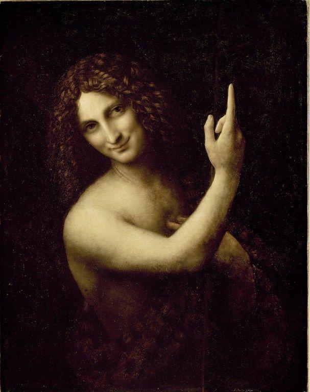 St jean baptiste de Léonard de Vinci