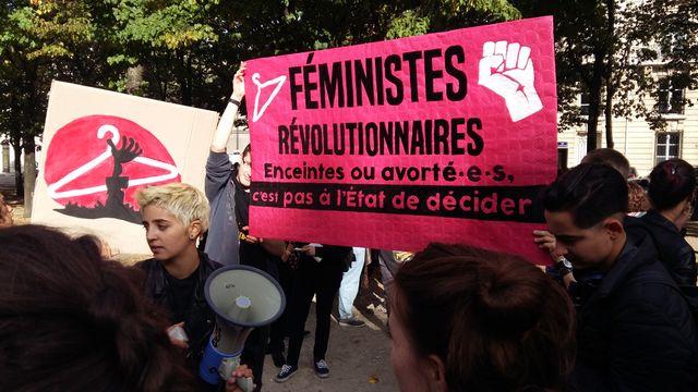 Manifestation à Paris contre la suppression de l'avortement en Pologne