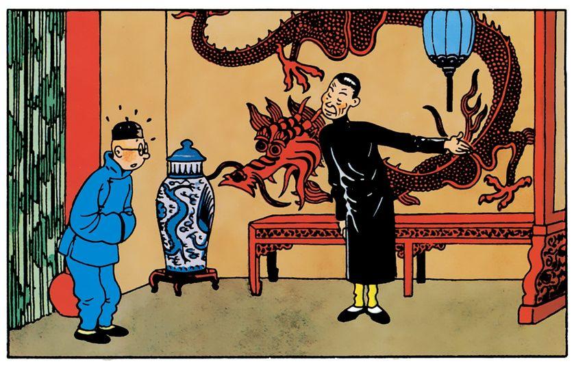 """La fumerie d'opium """"Le Lotus bleu"""", qui appartient au trafiquant japonais Mitsuhirato"""